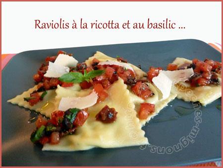 Raviolis à la ricotta et au basilic