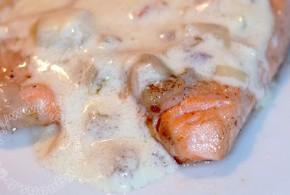 Filet de saumon sauce échalote