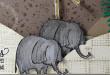 Petits éléphants… Carte Scrap #596