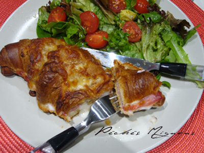 Croissant, Jambon